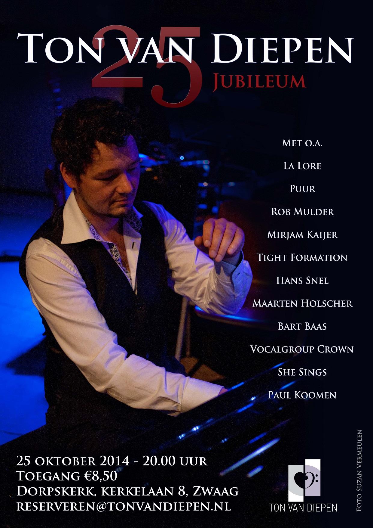 Kaartverkoop jubileum concert gestart!